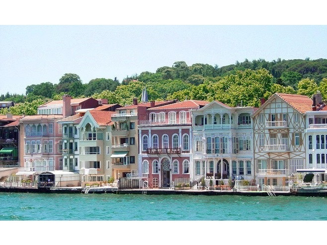 """Water Mansions"" (Yali) on the Bosphorus."