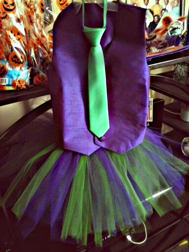 Girls Joker tutu costume