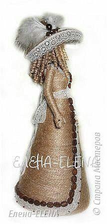 Поделка изделие День рождения День учителя Моделирование конструирование Куколки из шпагата Кофе Кружево Шпагат фото 10