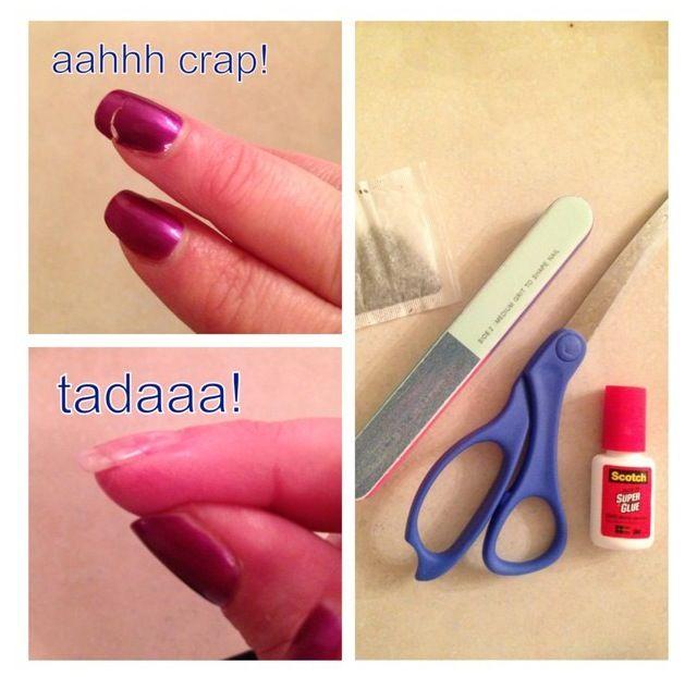 Nail Repair: Nail Repair With Super Glue