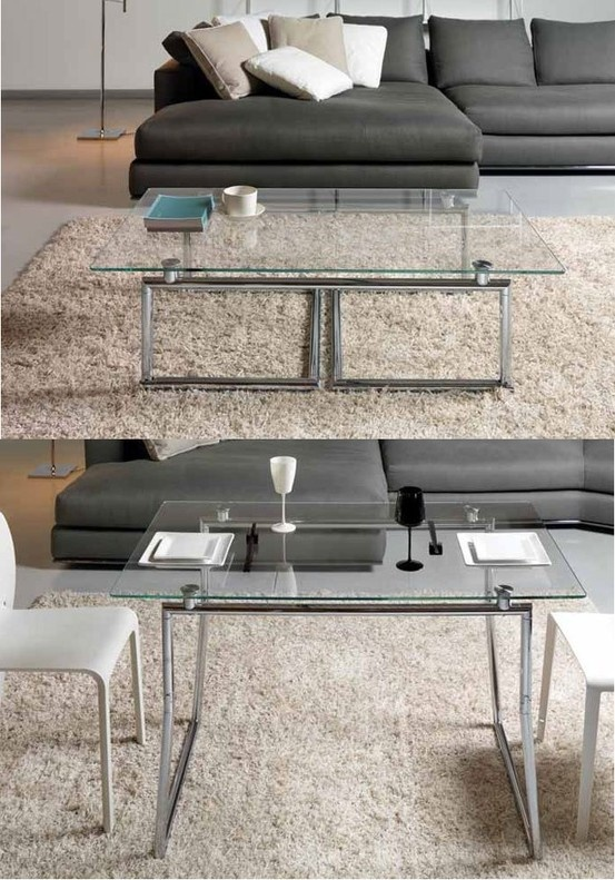 La piego une table basse relevable un syst me de pliage for Table basse multifonction