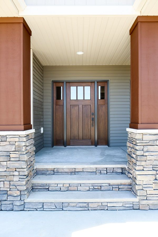 exterior doors an unadorned entry ready for a new homeowner with a classic craftsman - Exterior Fiberglass Doors