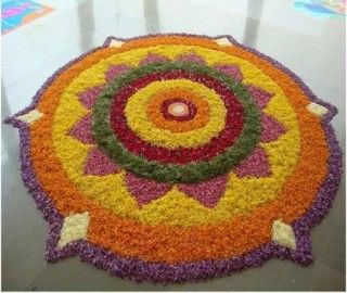 50 Best Pookalam Designs For Onam Festival!!!