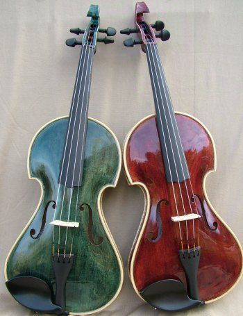 Violins-the green one's SO pretty:)