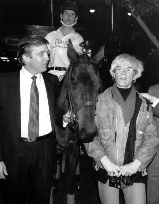 Andy Warhol was always seen mingling with the who's who of New York City – even Donald Trump! Here he is on Nov. 4, 1983. with Donald Trump at a polo match.