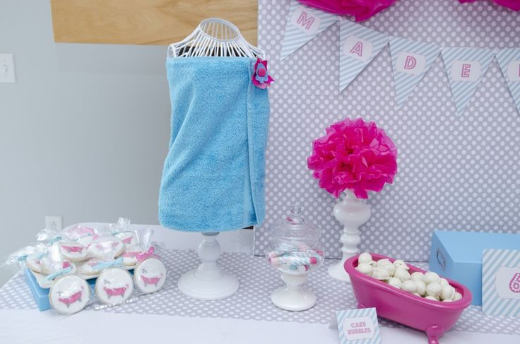 """Love this idea: Spa Party - Use American Girl Tub fill with """"Cake Bubbles"""" (oreo truffles)"""