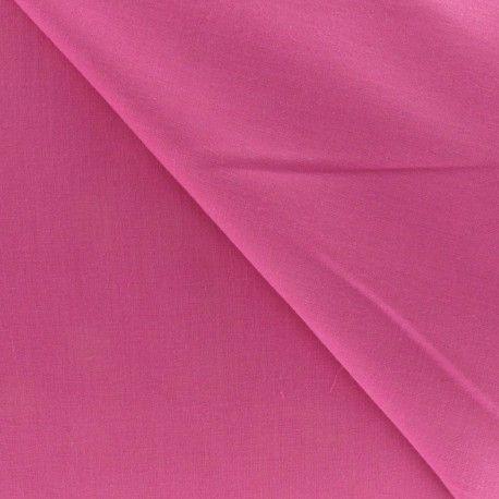 Tissu voile de coton fuchsia x 10cm - Ma Petite Mercerie