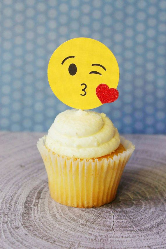 Check out this item in my Etsy shop https://www.etsy.com/listing/271610995/emoji-cupcake-toppers-30th-birthday