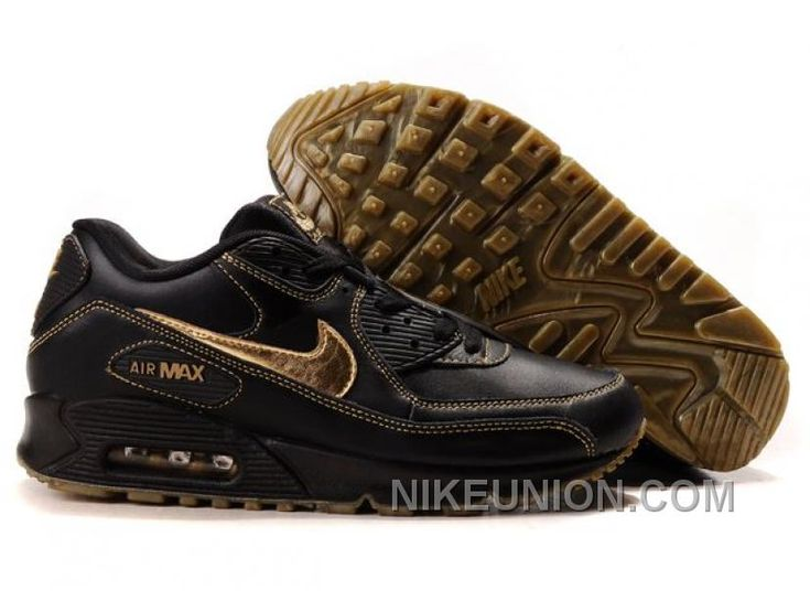 quality design 8fc8b f133f ... cheap cheapest nike air max 90 mens premium trainers gold and black  sneaker outlet uk store
