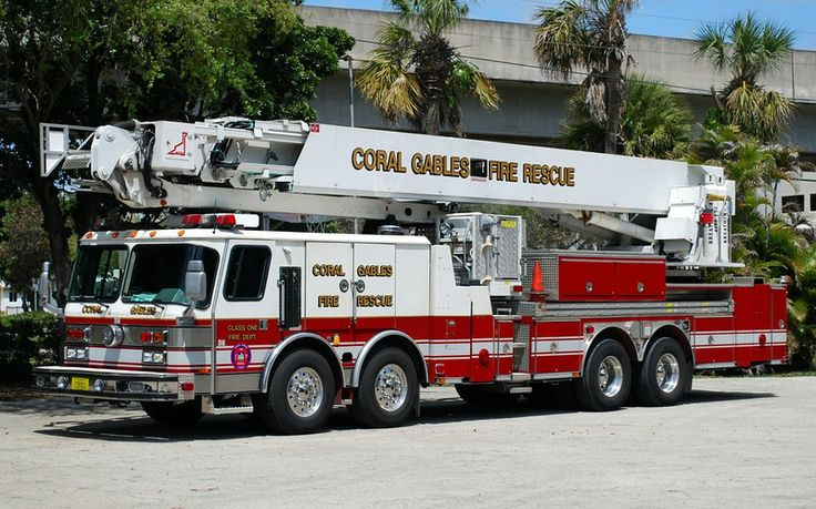 Miami Fire Department | Coral Gables Fire Rescue - # - FIREPIX21 Fire Apparatus Photo's - Alex ...