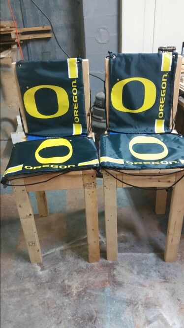 Sports themed chairs from 2×4 recycled product