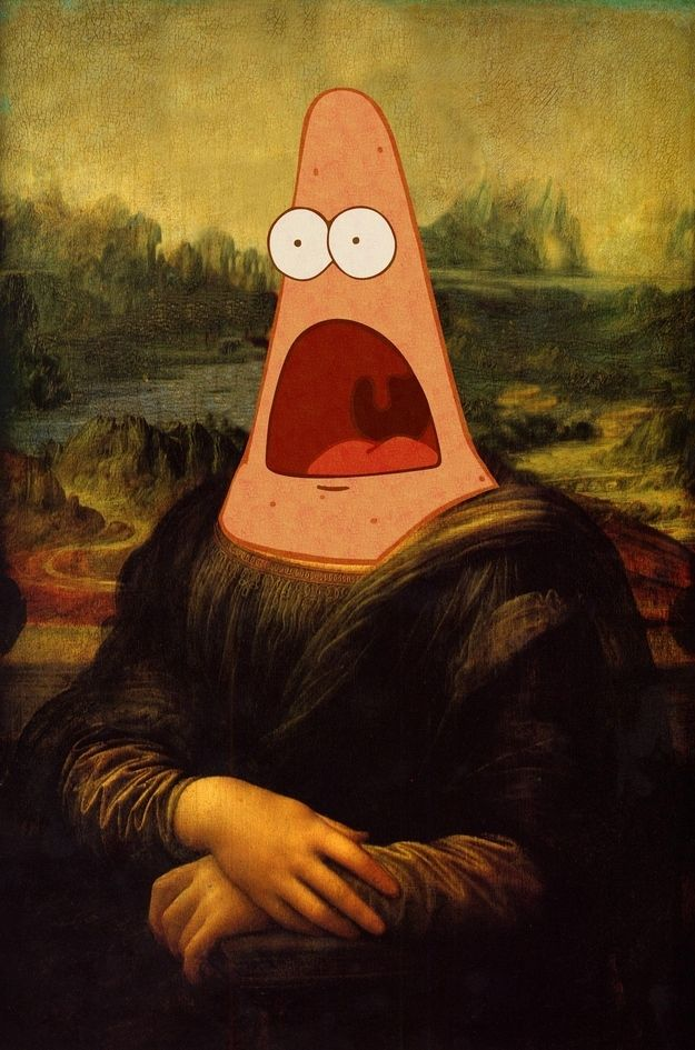 Surprised Mona Lisa. | Surprised Patrick Is Surprised By Everything On The Internet