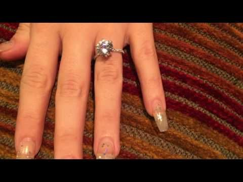 3 Carat Brilliant Cut Highest Quality CZ Engagement Ring with Skinny Band. - YouTube