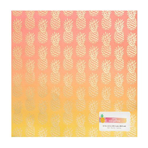 "American Crafts 378742 Amy Tan on a Whim Ombre Foil 15 Pack of 12 X 12"" Specialty Paper"