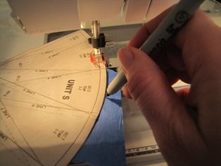 A tip for sewing perfect arcs