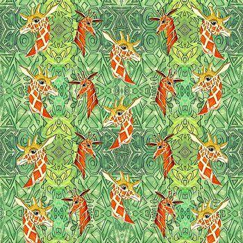 Giraffes Pattern by Gianalberto Oliva