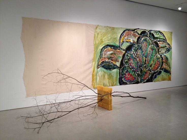 mario mertz | Mario Merz, Canti errabondi I, acrylic and oil on canvas with tree ...