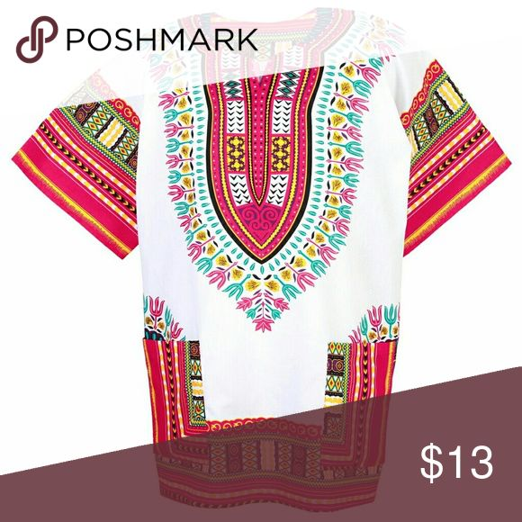 Dashiki shirt for men and women one size One size dashiki for men and women will fit small to extra large Tops Tees - Short Sleeve