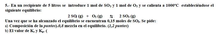Ejercicio 5,P2, JUNIO 2002-2003. Examen PAU de Química de Canarias. Tema: equilibrio.