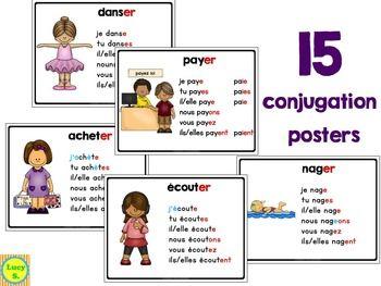 $ Les Verbes en -ER - A Pack full of Resources including 15 conjugation posters!