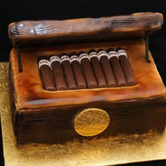 Cigar Humidor Cake 3d Cakes Pinterest Cakes Cigar