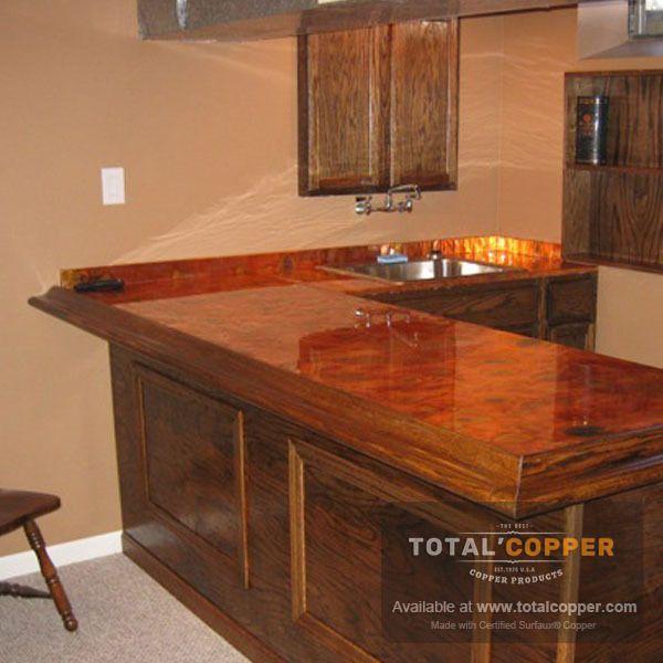 Flamed Patina Copper Sheet Heavy 24 Gauge Copper Backsplash Copper Sheets Copper Top Table