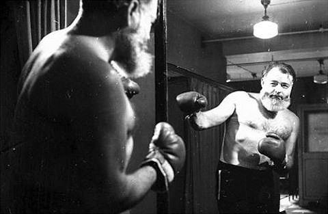 "Ernest Hemingway's Delusional Adventures in Boxing: ""My Writing is Nothing, My Boxing is Everything.""Hemingway Projects, Ernest Hemmingway, Man Stuff, Ernest Hemingway, Boxes Gloves, Book, Fellows Man, Papa Hemingway, Inspiration People"
