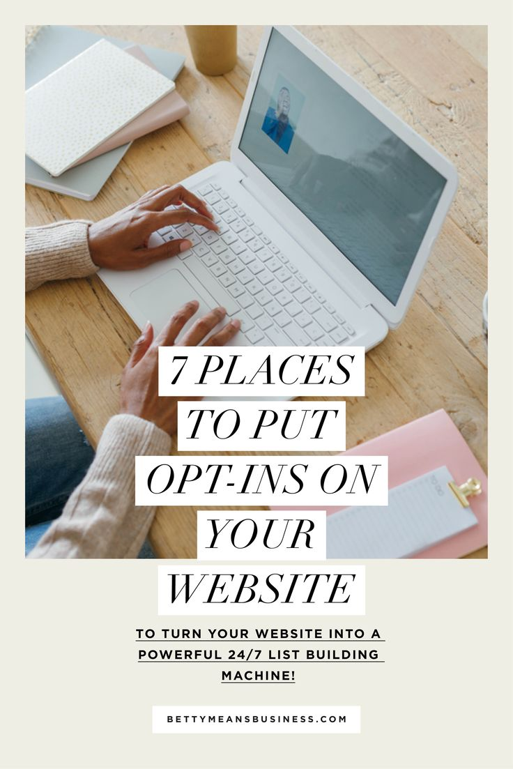 7 Places To Put Opt-Ins On Your Website (to turn your website into a powerful 24/7 list building machine!) | Need some ideas on where to put your opt-in gift on your website? Here are my 7 favourite places, including examples of each.