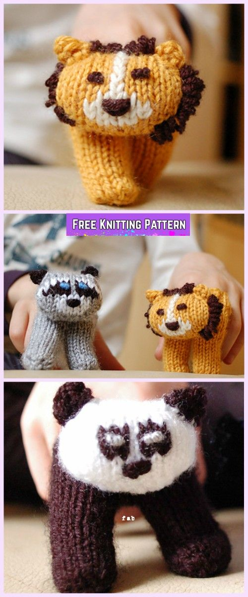 Knit Two Finger Puppets Free Knitting Pattern