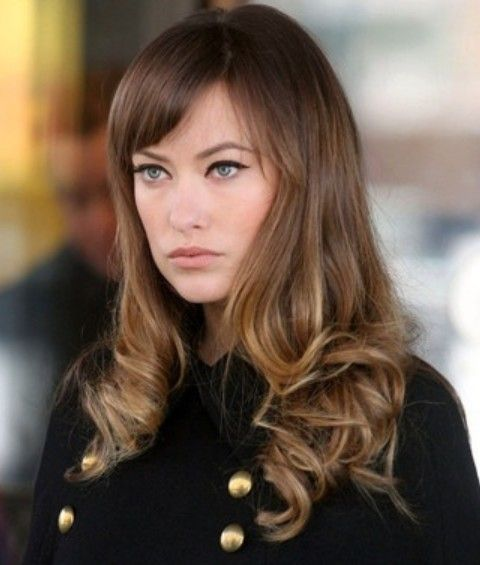 Olivia Wilde Hairstyles: Vivacious Long Curls with Bangs