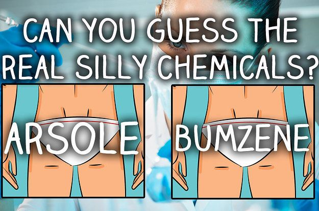 Can You Guess The Real Silly Names Of Chemicals?