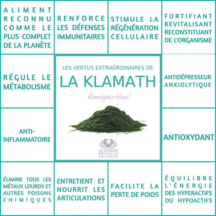 Les Bienfaits de la Klamath   LA KLAMATH Le Monde s'Eveille Grâce à Nous Tous ♥