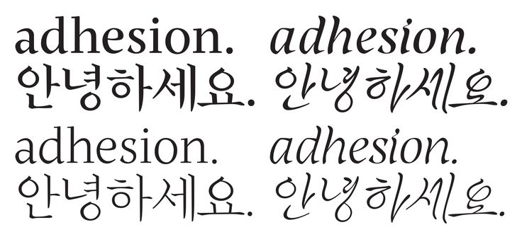 Aaron Bell's Korean typeface [PDF] borrows from native cursive writing to…
