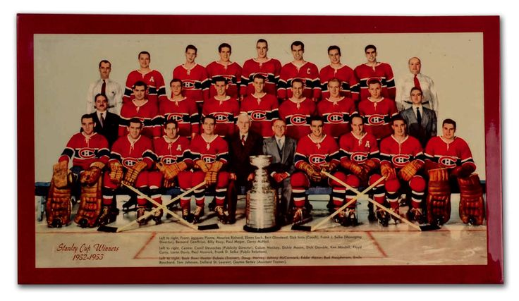 Elmer Lach's Rare 1952-53 Montreal Canadiens Team Photo
