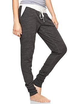 I would love something similar to this--those jogger style pants with the cuff at the ankle. Something just super comfortable yet stylish to wear around--especially after having a baby.
