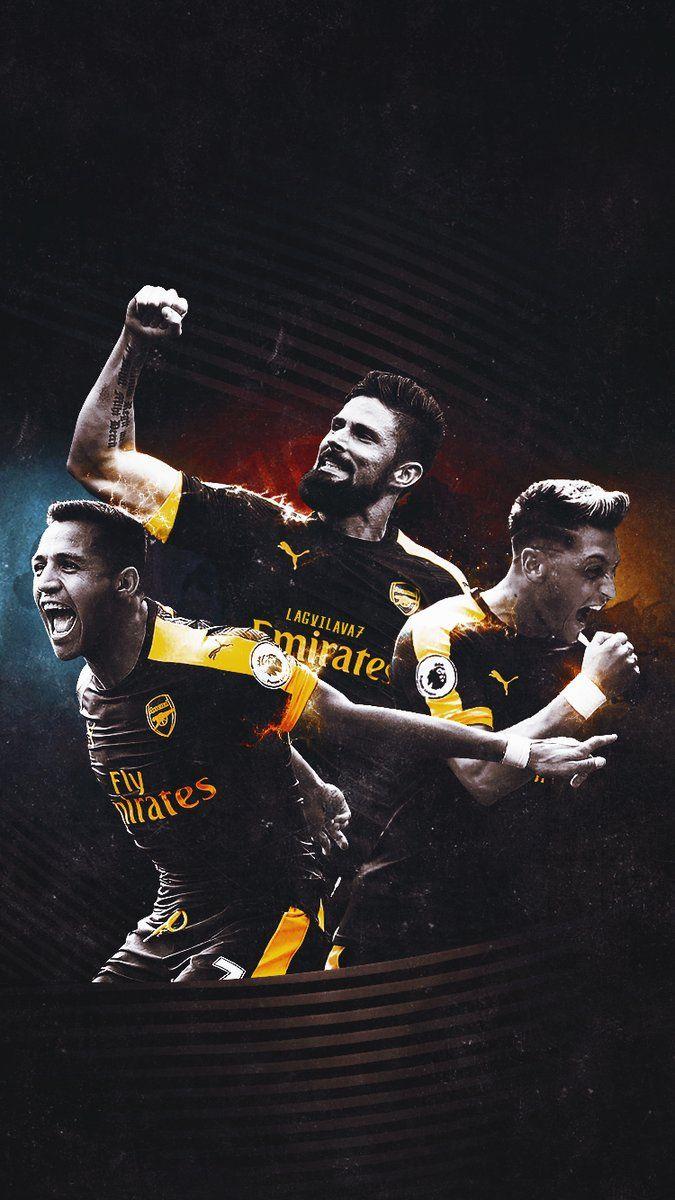 Alexis, Giroud, Ozil #Arsenal