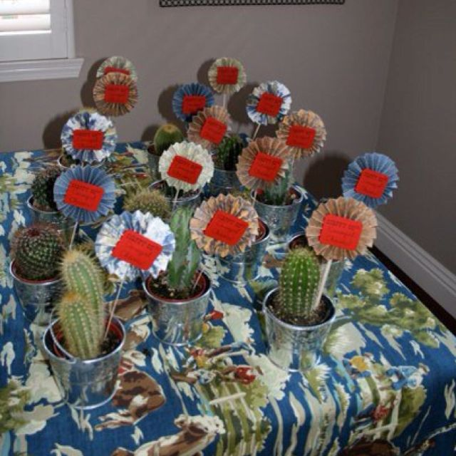 Western theme party favors