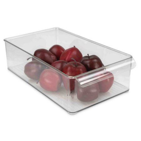Home Basics Large Fridge Bin, Clear