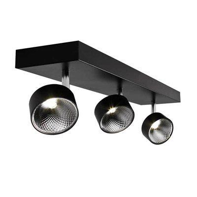 BAZZ 3-Light LED Black Confined Head Directional Light