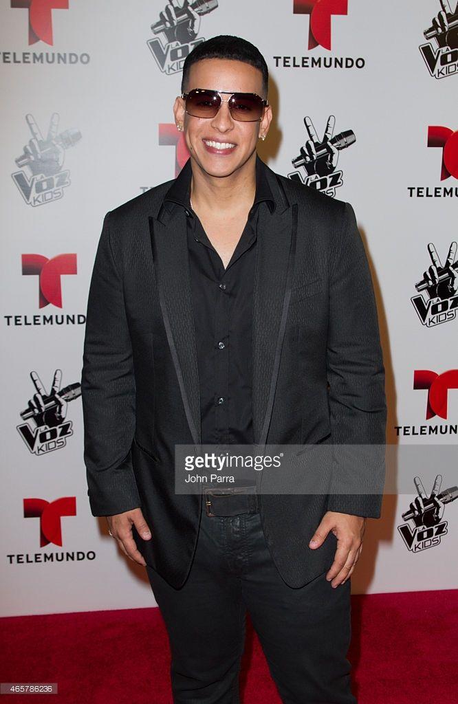 Daddy Yankee attends Telemundo's La Voz Kids Press Conference at W Hotel on March 10, 2015 in Miami, Florida.