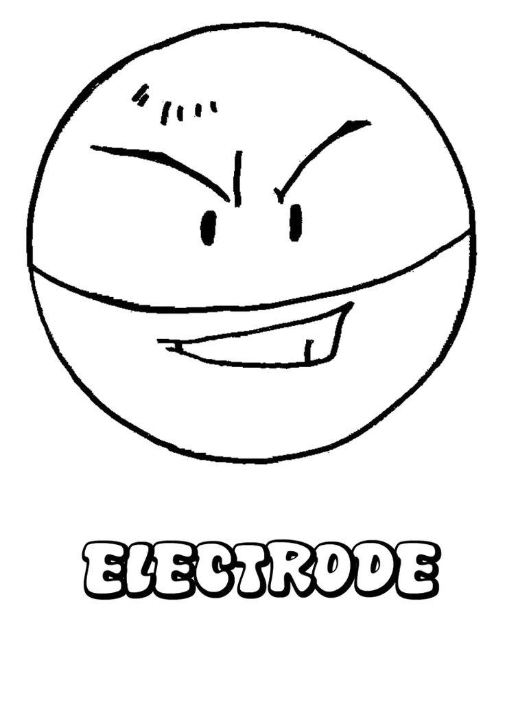pokemon ball electrode coloring page
