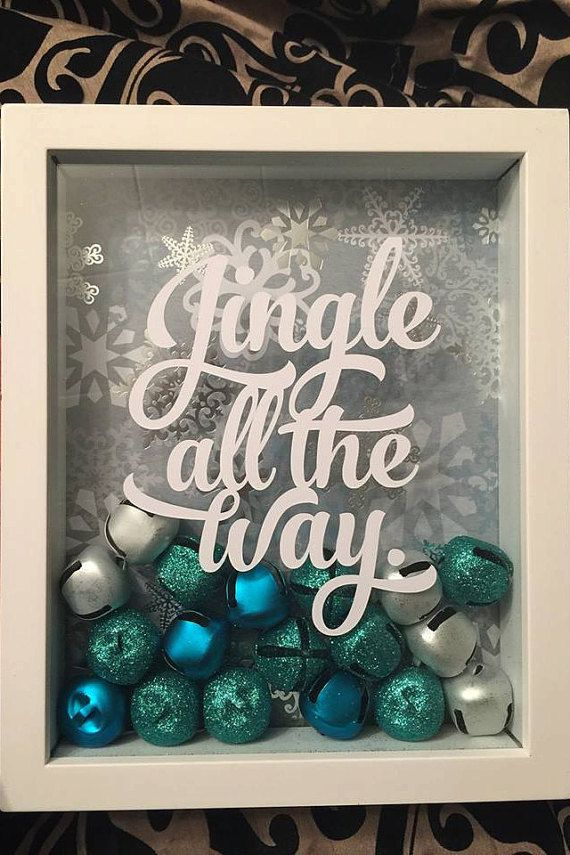 Jingle All the Way Shadow Box by Katttyyydid on Etsy