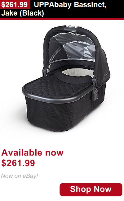 Bassinets: Uppababy Bassinet, Jake (Black) BUY IT NOW ONLY: $261.99