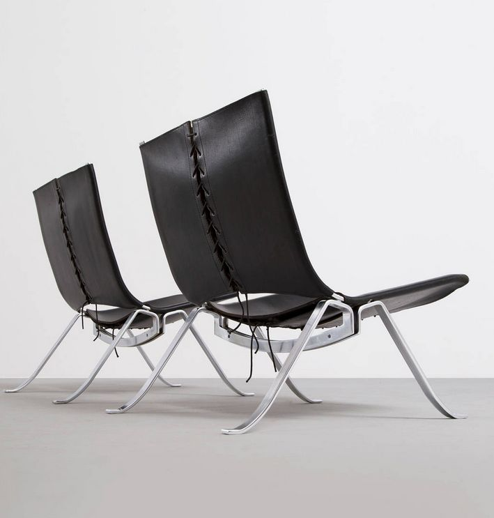 preben fabricius leather steel and cord lounge chairs leather