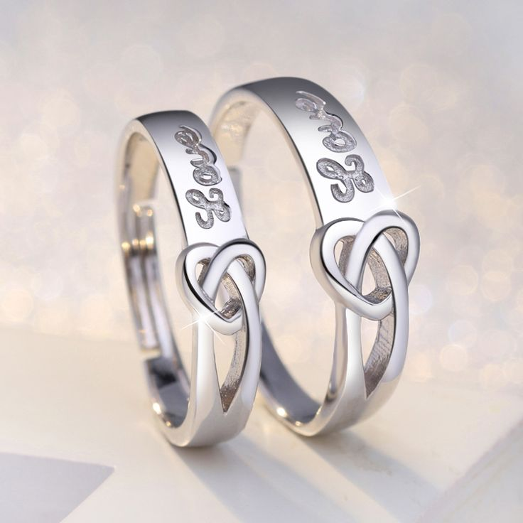 Unique heart deco his and hers couple promise rings in 925 silver http://www.jewelsin.com/p-love-each-other-925-silver-rings-for-couples-269