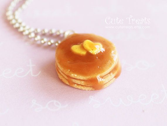 Pancakes Necklace - Miniature Food Jewelry - https://www.facebook.com/different.solutions.page