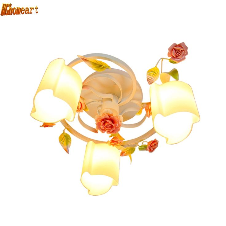 58.65$  Watch now - http://aliunh.shopchina.info/1/go.php?t=32814325761 - HGhomeart Roses Modern Led Ceiling Lights Luminaria Home Lighting Flush Mount Ceiling Light Kids Ceiling Lamps Bedroom Lighting  #buychinaproducts