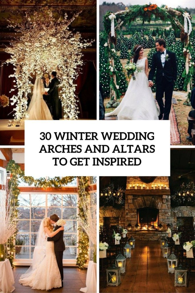 30 Winter Wedding Arches And Altars To Get Inspired                                                                                                                                                                                 More
