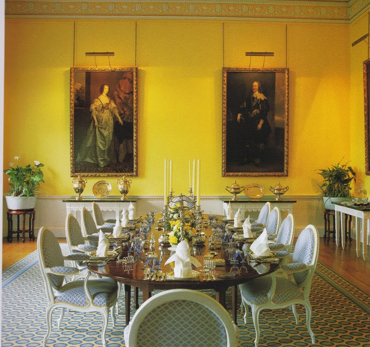 David Hicks Enlivened The Dining Room Of An English Country House Broadlands With Brightly Painted Yellow Walls From HIcks Living