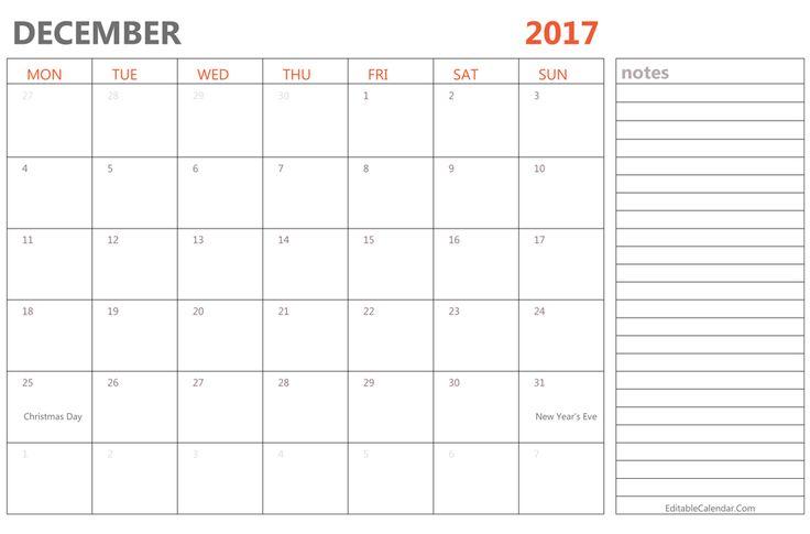 Free Printable December  Calendar For Kids  Invoice